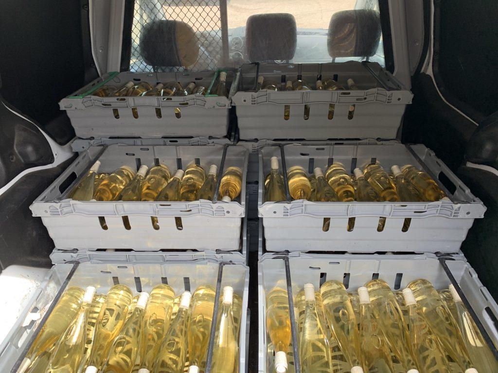 Vinet levereras